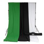 Savage Accent Muslin Background Kit 10x12 - White/Black/Green