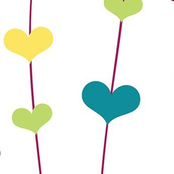 Savage 53X18 Printed Background - Floating Hearts