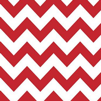 Savage 53X18 Printed Background - Red White Chevron