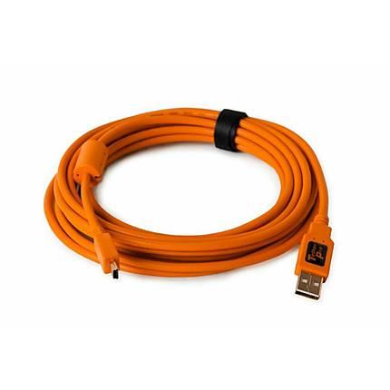 Tether Tools 15ft/4.6m TetherPro USB 2.0 A Male to Mini-B 5-Pin Orange