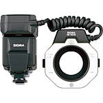 Used Sigma EM-140DG Ring Flash Canon w/ 58MM/55MM Adapter [H] - Excellet