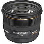 Used Sigma EX DG HSM 50mm f/1.4 Standard Lens for Sigma - Black- Excellent