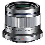 Used Olympus 45mm f/1.8 Lens (Silver) - Fair