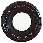 Used Minolta 50mm f/1.7 Rokkor PF MC * NO REAR CAP - Good