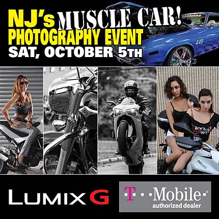 NJs Muscle Car Photography Event - Cars, Bikers, and Models