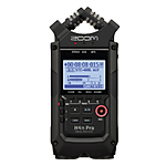 Zoom H4N Pro 4-Input/4-Track Portable Handy Recorder (All Black)