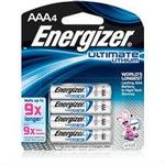 Energizer AAA 4pk 9X Ultimate Lithium Battery L92BP4