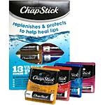 Chapstick Assorted 13ct Lip Protectant (4pcs Original, 3ea Cherry/Straw/Mois