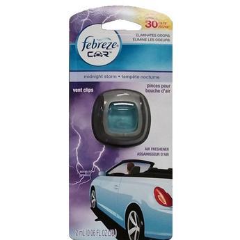 Febreze Car Vent Midnight Storm 1ct